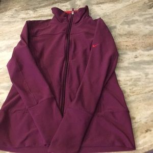 Nike Dry Fit warm up Jacket.  Zip up. Side pockets